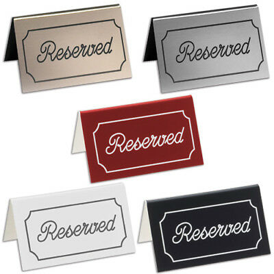 Engraved Table Tent Reserved, -