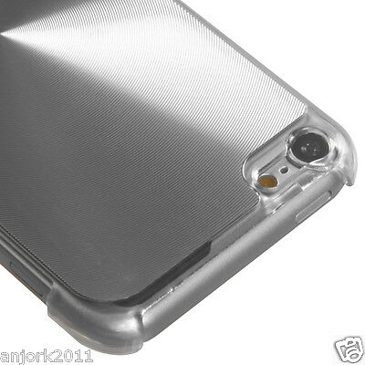 Apple iPod Touch 5 BRUSHED ALUMINUM CASE BACK COVER ACCESSORY SILVER