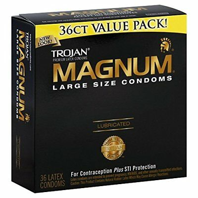 Trojan Female Contraceptives Magnum 36 Pack / Count 36ct Condoms Large Size