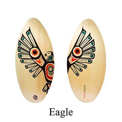 Lucky Bums Wood Skimboard, Eagle - 39 Inches