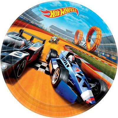 HOT WHEELS Wild Racer LARGE PAPER PLATES (8) ~ Birthday Party Supplies Dinner ()