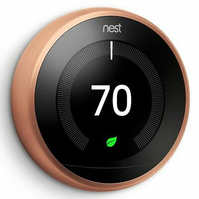 Nest Learning Thermostat - 3rd Generation - Copper - 3H/2C - 7-Day Programmable