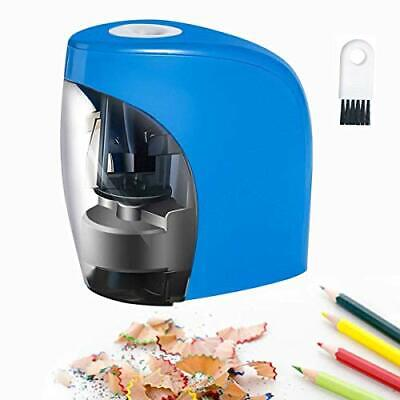 Electric Pencil Sharpener Battery And Usb Powered Kids Adults Stationery Blue