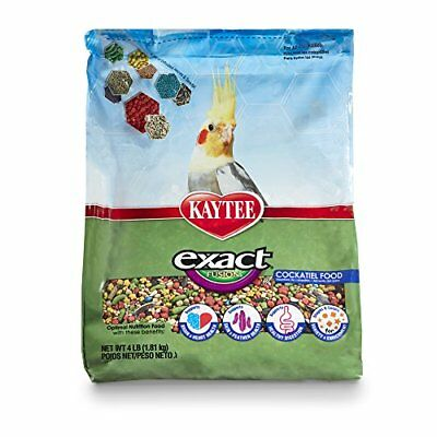 Kaytee Exact Fusion Bird Food for Cockatiel 4-lb (Bird Food 4lb Bag)