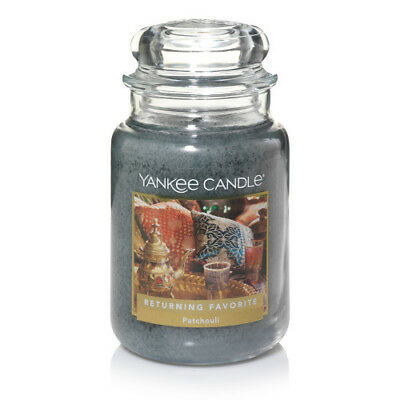 ☆☆PATCHOULI☆☆ LARGE YANKEE CANDLE JAR☆☆FRESH SCENTED CANDLE- FREE FAST SHIPPING
