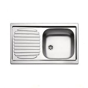 Lavello lavandino cucina inox da incasso cm 86 x 50 ala sx - Sifone lavandino cucina ...