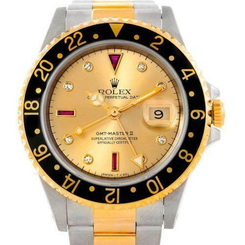 mens rolex gmt gold ebay