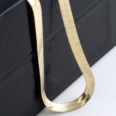 "Fantastic 24k Yellow Gold Filled,8mm Width,20""Length Herringbone Chain"