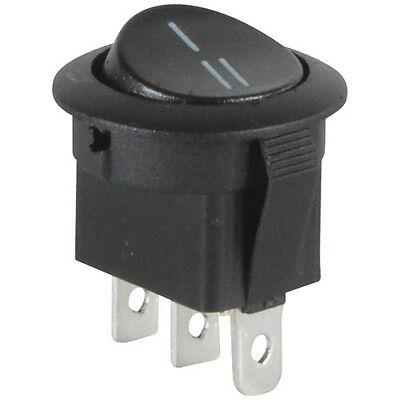 Spdt Automotive Round Rocker Switch Black