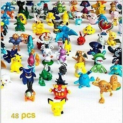 48Pcs Pokemon Pocket Mini 2-3cm Action Figures Kids Toys Birthday Gift