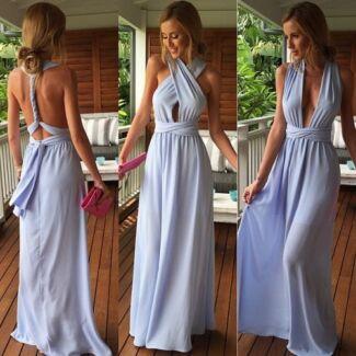 FOR HIRE: Xenia Multi-way Light Blue Maxi Dress XS New Farm Brisbane North East Preview