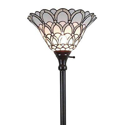 Amora Lighting AM071FL14 Tiffany-style Jewel Floor Torchiere