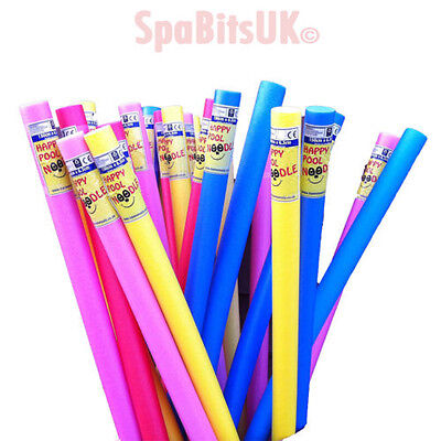 4 x Swimming Pool Noodle Float Aid Woggle Bargain = Red, Yellow, Pink & Blue.