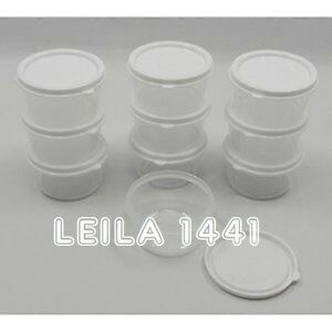 New small round mini clear plastic food craft bead storage for Plastic craft boxes with lids