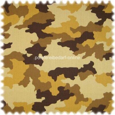 AKTION Möbelstoff Aktueller Camouflage braun Farbdruck  (Möbelstoff Camouflage)