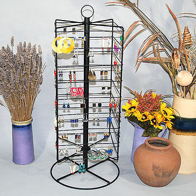 Metal Rotating Earring Rack Wire Jewelry Display Stand 28 14h