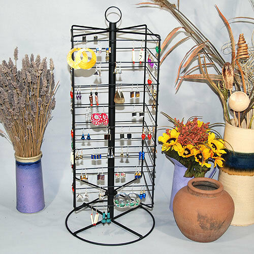 """Metal Rotating Earring Rack Wire Jewelry Display Stand 28 1/4""""H"""