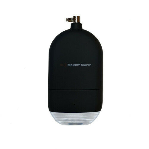 MaxxmAlarm Personal Alarm + LED Light in Matte Black