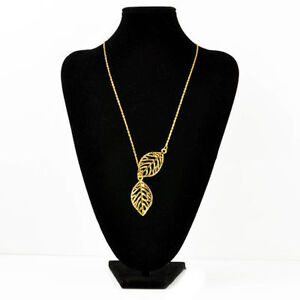 Double-Gold-Silver-Leaves-pendant-Clavicle-Necklace Kitchener / Waterloo Kitchener Area image 2