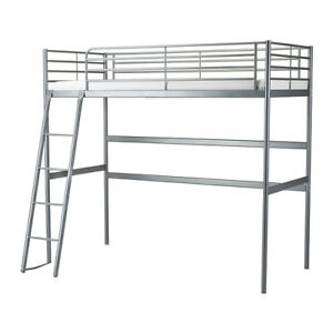 Metal Twin Bunk Bed with Desk