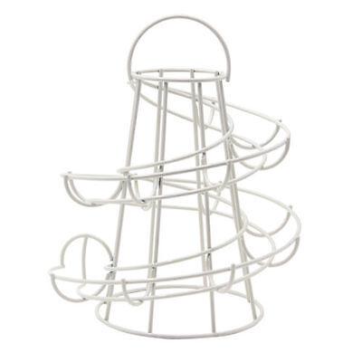 Chrome Helter Skelter Spiral Kitchen Egg Stand Holder Storage Basket for 18 Eggs