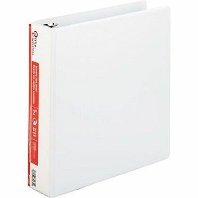 6 Office Impressions White 2 inch View Binders 3 Round Ring binder lot ct - NEW