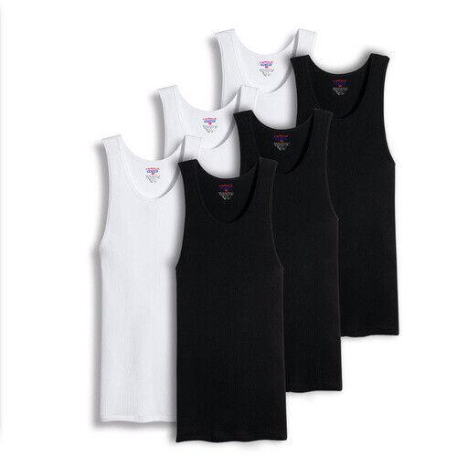 Mens 100% Big And Tall Cotton Tank Top Wife Beater A-Shirt Undershirt Ribbed