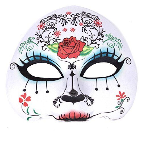 "Womens Day Of The Dead Sugar Skull Mask - ""Maria"""