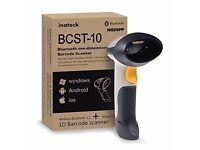 2 in 1 Wireless Bluetooth Barcode Scanner & USB Barcode Reader Bar-code Handscanner -Inateck