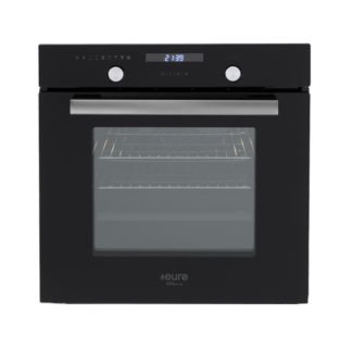 60Cm Black Underbench Electric Oven, Touch Control Clock