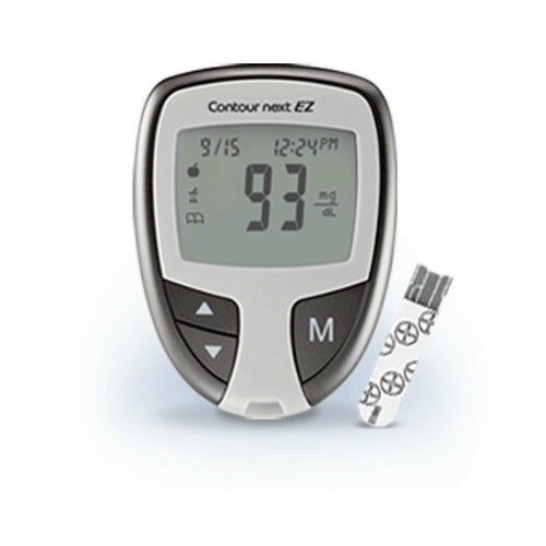 contour next blood glucose meter and carring