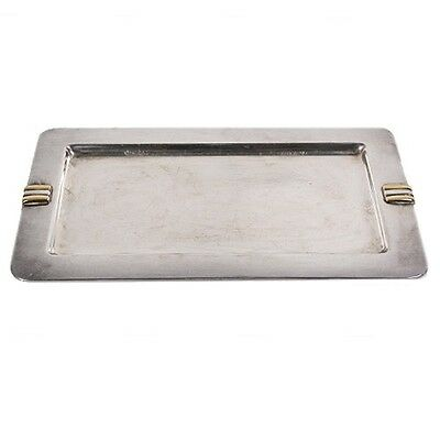 CARTIER Silver Plated Tray Stamped Cartier Twice