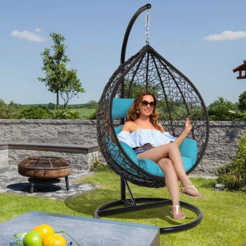 Outdoor Hanging Egg Swing Chairs Garden Garage Home Office
