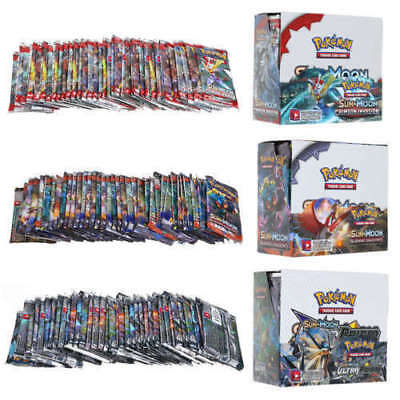 Hot 324pcs Pokemon GX TCG Booster Box Englisch Edition SUN & MOON Karten