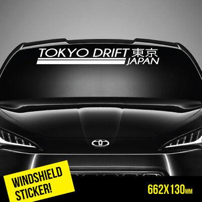 Tokyo Drift Windshield Top Jdm Sticker Car   Wtop0011