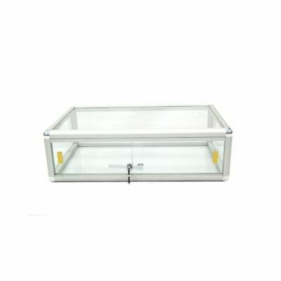 Aluminum Framed Tempered Glass Counter Top Display Case With Front Lock