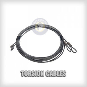 Garage door cables 1 8 pair torsion spring 7ft 8ft 9ft for 12 foot garage door opener