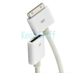 30 Pin 1M iPhone iPod iPad Dock Extension Data Sync Cable