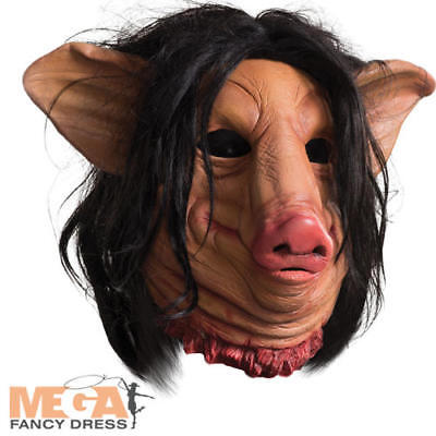 Pig Face Mask Adults Fancy Dress Saw Jigsaw Halloween Horror Costume Accessory (Jigsaw Face Mask)