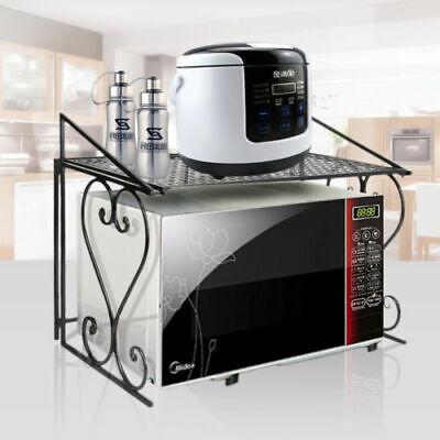 Microwave Oven Baker Stand Rack Storage Organizer Utility Kitchen Counter Shelf Bakers Utility Shelf