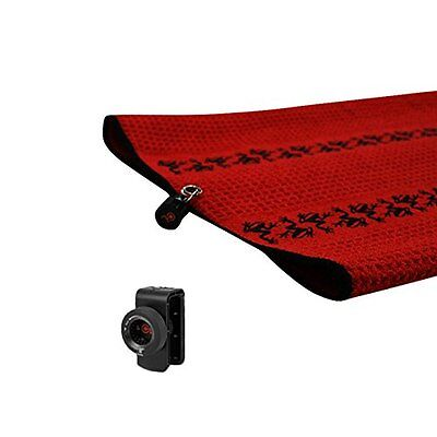 2017 Frogger TRAX Red Golf Towel with Latch it System and Free Champ Golf Tees