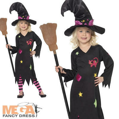 Cinder Witch Girls Halloween Fancy Dress Witches Kids Costume Child Age 3-9 Year](Halloween Costumes For Girls Age 9)