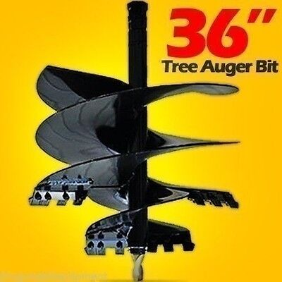 36 Tree Auger Bit For Skid Steers Tractors48 Long2 Hex Shaftmade Usa