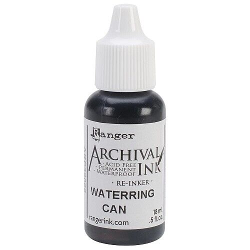RANGER Archival Reinker .5oz Refill Ink for Stamp Pads Select from 55 colors Watering Can