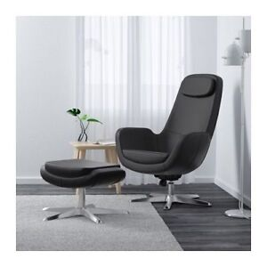 Looking for a black IKEA Arvika Chair and Foot Stool