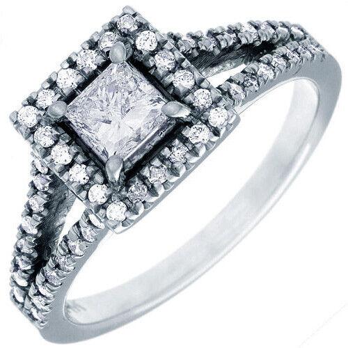 GIA Certified Diamond Engagement Ring 1.65 Carat Princess Cut 14k White Gold