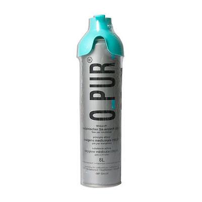 O PUR Sauerstoff Dose 8 L mit Sauerstoffmaske Konzentration Sauerstoffflasche