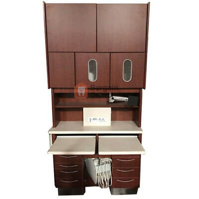 Mcc Perfect Fit Dental Rear Cabinet Brown With Assistants Instrumentation