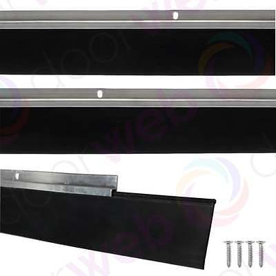 GARAGE DOOR DRAUGHT EXCLUDER Bottom Rubber Seal Strip Excluders Aluminium 2500mm