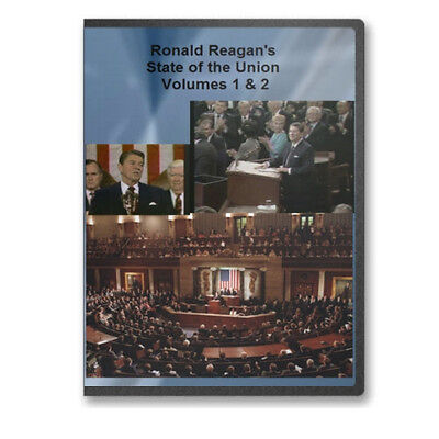 Ronald Reagan&apos s Inauguration All 7 State of the Union Adresses 4 DVDs C701 704